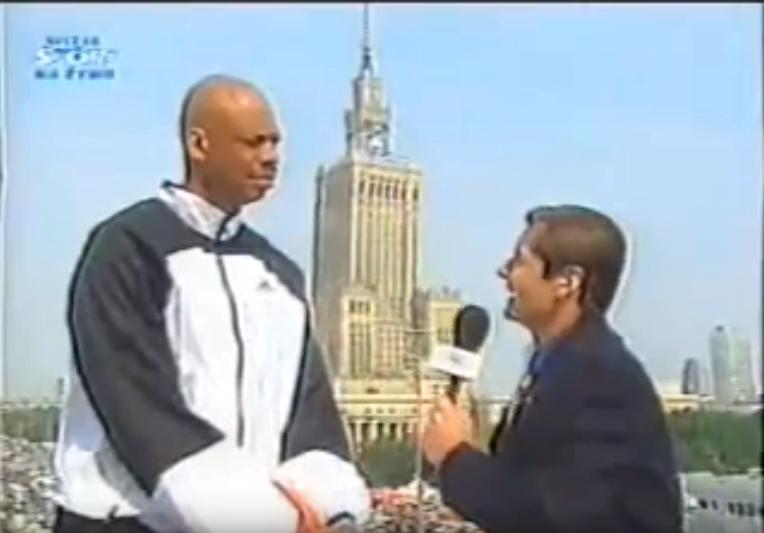 Kareem Abdul-Jabbar i Przemysław Babiarz - 1999 rok